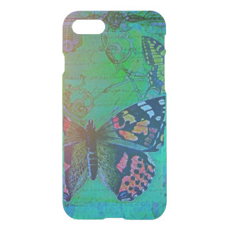 Vintage Butterfly Collage French Script Decorative iPhone 8/7 Case