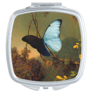 Vintage Butterfly Compact Mirror