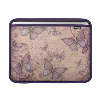 Vintage Butterfly Design in Shades of Pink Sleeve For MacBook Air