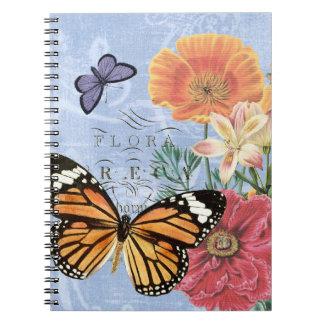 Vintage Butterfly Flora...notebook Notebooks
