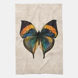 Vintage Butterfly Illustration 1800's Butterflies Tea Towel