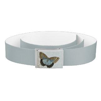 Vintage butterfly illustration belt