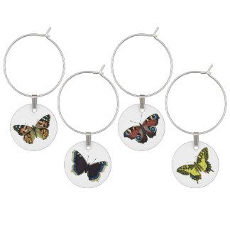 Vintage Butterfly Illustration Wine Charm