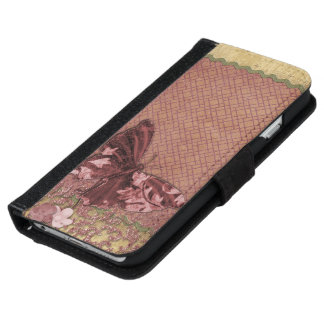 Vintage butterfly iPhone 6 wallet case