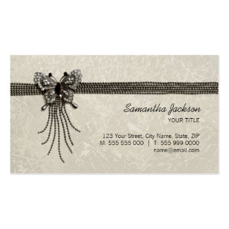 Vintage Butterfly Jewelry business card