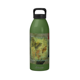 Vintage butterfly mail drinking bottle