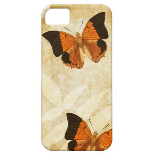 Vintage Butterfly on Parchment iPhone 5 Case
