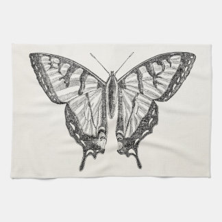 Vintage Butterfly Personalized Butterflies Insects Tea Towel