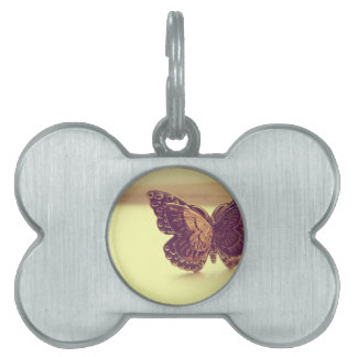 Vintage Butterfly Pet Name Tag