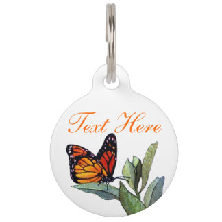 Vintage Butterfly Pet Name Tags