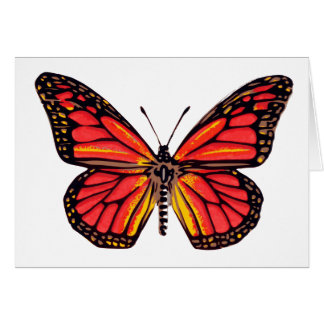Vintage Butterfly Print Card