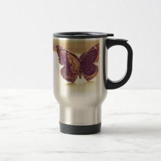 Vintage Butterfly Travel Mug