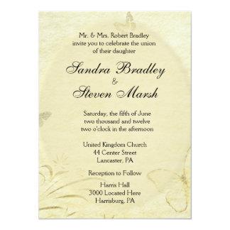 Vintage Butterfly Wedding Invitation