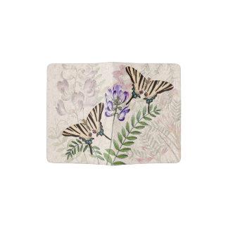 Vintage Butterfly Wildlife Flowers Passport Holder