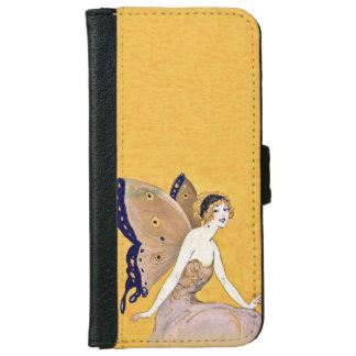 Vintage Butterfly Wings Fairy Fae Blond Hair iPhone 6 Wallet Case