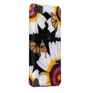 Vintage Butterfly Woman Flowers iPod Touch (5th Generation) Covers
