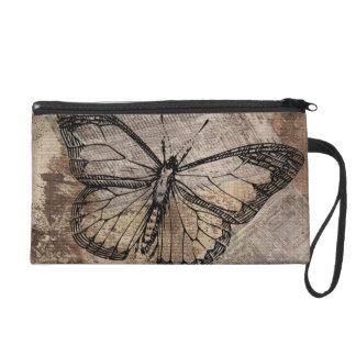 Vintage Butterfly Wristlet Purses