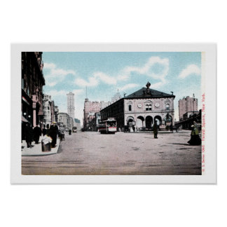 Vintage c 1900 Herald Square New York City Poster