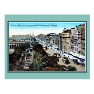 Vintage ca 1900 Princes Street Edinburgh Postcard
