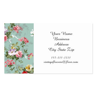 Vintage Cabbage Roses and Lilacs Pack Of Standard Business Cards