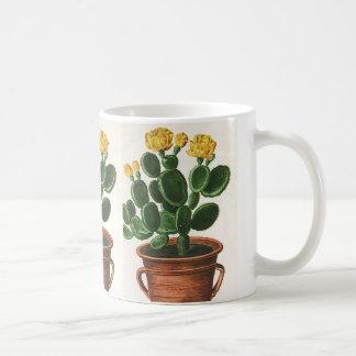 Vintage Cactus Flowers, Succulent Cacti Plants Coffee Mug