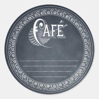 Vintage Cafe Blackboard Lined Recipe Sticker