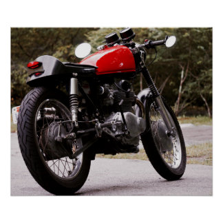 Vintage Café Racer motorcycle poster