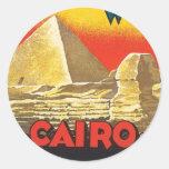 Vintage Cairo Egypt Round Sticker
