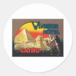Vintage Cairo Egypt Round Stickers