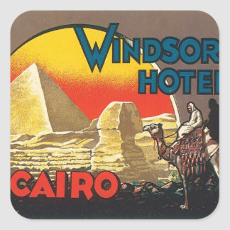 Vintage Cairo Egypt Square Sticker