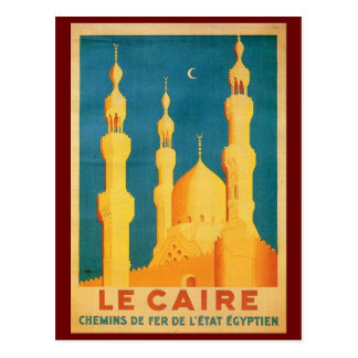 Vintage Cairo, Egypt Travel Advertisement Postcard