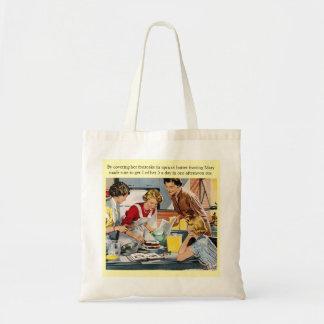 Vintage Cake Decorating Scene Budget Tote Bag