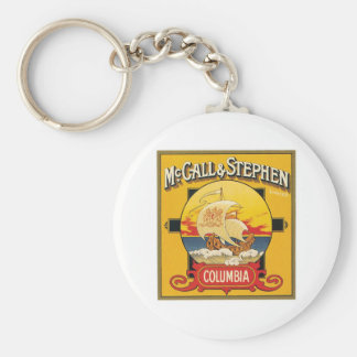 Vintage Cake Food Product Label Key Chain