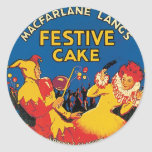 Vintage Cake Food Product Label Stickers