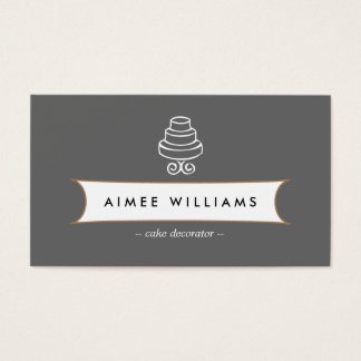 VINTAGE CAKE LOGO III for Bakery, Cafe, Catering Business Card
