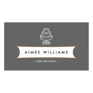 VINTAGE CAKE LOGO III for Bakery, Cafe, Catering Pack Of Standard Business Cards