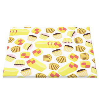 Vintage Cakes Pattern Gallery Wrap Canvas