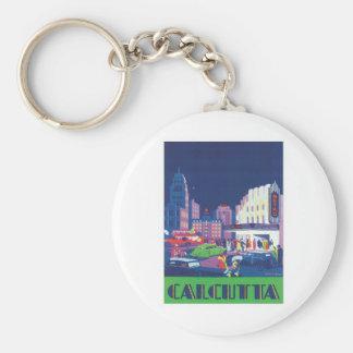 Vintage Calcutta Kolkata India Keychain