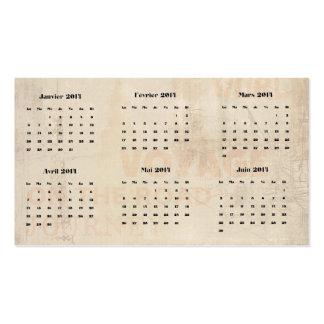 vintage calendar 2014, business card