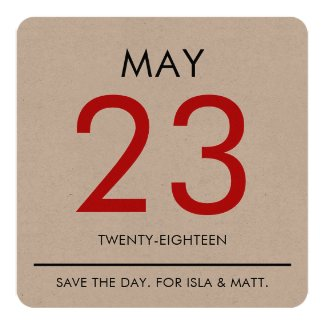 Vintage Calender | Save the Date