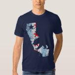 Vintage California Chicago Transplant Mashup Flag Tee Shirts