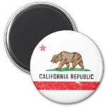 Vintage California Flag 6 Cm Round Magnet