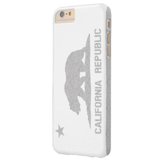 Vintage California Flag Damask Pattern Barely There iPhone 6 Plus Case