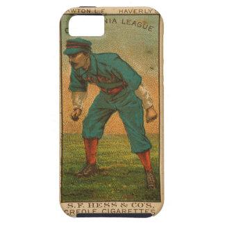 Vintage California League baseball card iphone5 iPhone 5 Cases