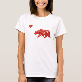 Vintage California Love Bear & Heart T-shirt
