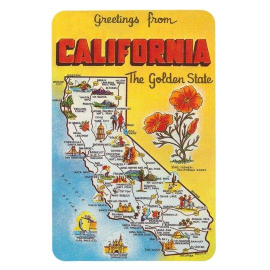 Vintage California Rectangular Photo Magnet