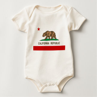 Vintage California Republic State Flag Baby Bodysuit