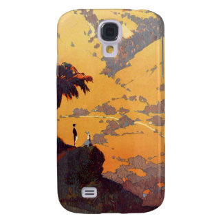 Vintage California Tourism Poster Scene Galaxy S4 Case