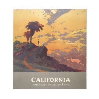 Vintage California Tourism Poster Scene Notepad