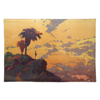 Vintage California Tourism Poster Scene Placemat